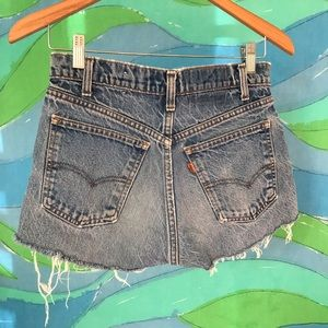 vintage levis orange tab denim cut off shorts